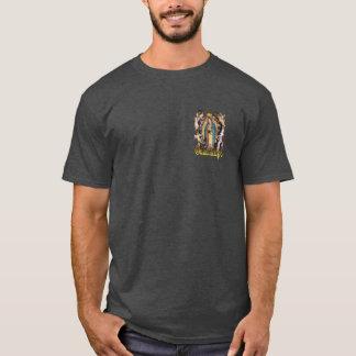 グアダルペ及び天使のカトリック教徒のTシャツの私達の女性 Tシャツ