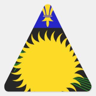 グアダループの旗 三角形シール