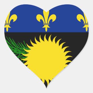 グアダループの旗GP ハートシール