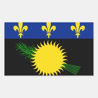 グアダループの旗GP 長方形シール