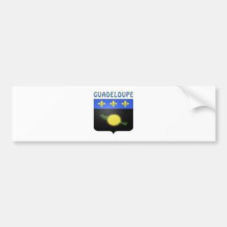 グアダループの紋章付き外衣 バンパーステッカー