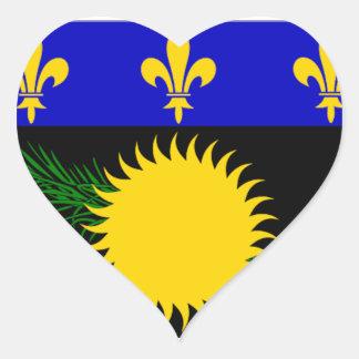 グアダループ(フランス)の旗 ハートシール