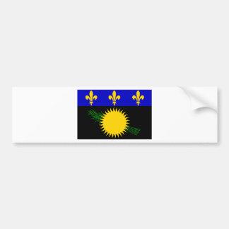 グアダループ(フランス)の旗 バンパーステッカー