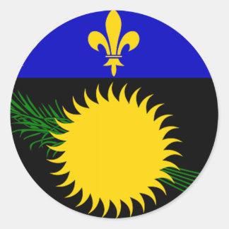 グアダループ(フランス)の旗 ラウンドシール