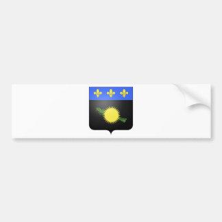 グアダループ(フランス)の紋章付き外衣 バンパーステッカー