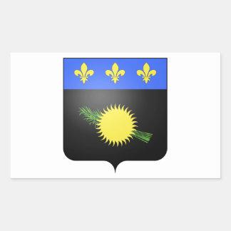 グアダループ(フランス)の紋章付き外衣 長方形シール