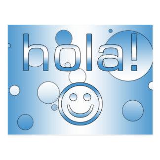 グアテマラのギフト: こんにちは/Hola + スマイリーフェイス ポストカード