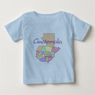 グアテマラの地図 ベビーTシャツ