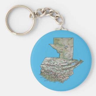 グアテマラの地図Keychain キーホルダー