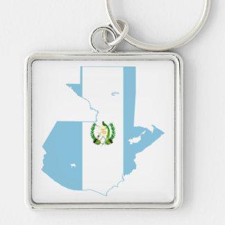 グアテマラの旗の地図GT キーホルダー