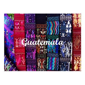 グアテマラの織物の設計 ポストカード