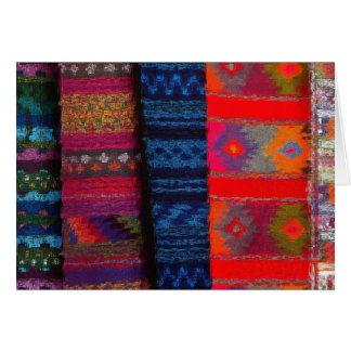グアテマラの織物 カード