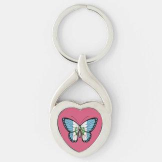 グアテマラの蝶旗 キーホルダー
