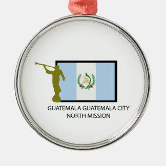 グアテマラグアテマラシティーの北の代表団LDS CTR メタルオーナメント