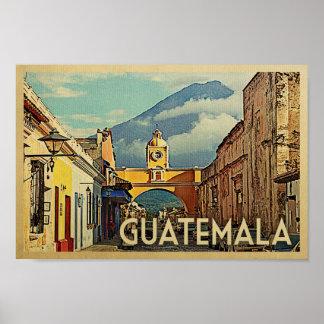 グアテマラポスターヴィンテージ旅行アンチグアの芸術 ポスター