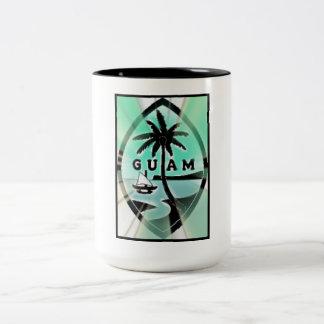 グアムのシールw日曜日光線 ツートーンマグカップ