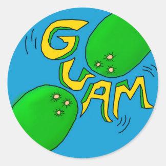 グアムのステッカー ラウンドシール