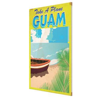 グアムのヴィンテージ旅行ポスター キャンバスプリント