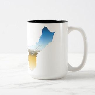 グアムの家の地平線 ツートーンマグカップ