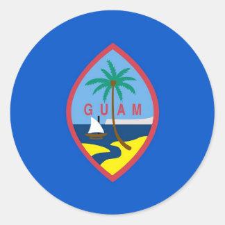 グアムの旗が付いているステッカー ラウンドシール