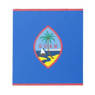 グアムの旗が付いているメモ帳 ノートパッド