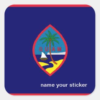 グアムの旗のステッカー スクエアシール