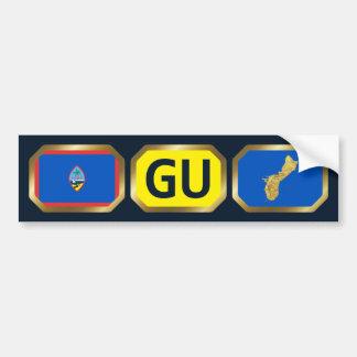 グアムの旗の地図コードバンパーステッカー バンパーステッカー
