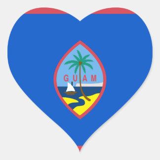 グアムの旗グウ ハートシール