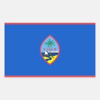 グアムの旗グウ 長方形シール