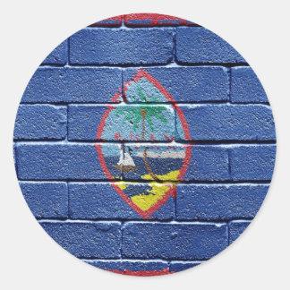 グアムの旗 ラウンドシール