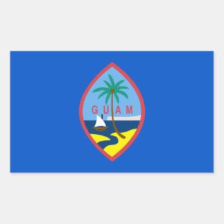 グアムの旗 長方形シール