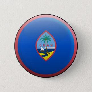グアムの旗 5.7CM 丸型バッジ
