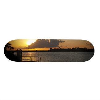 グアムの日没 スケートボード
