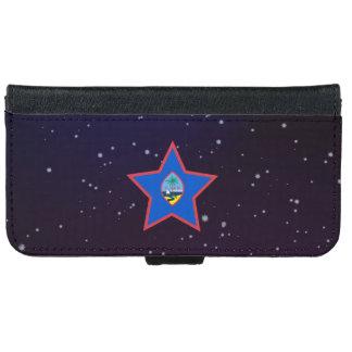 グアムの星のデザインの旗 iPhone 6/6S ウォレットケース