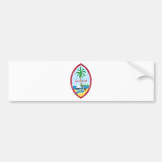 グアムの紋章付き外衣 バンパーステッカー