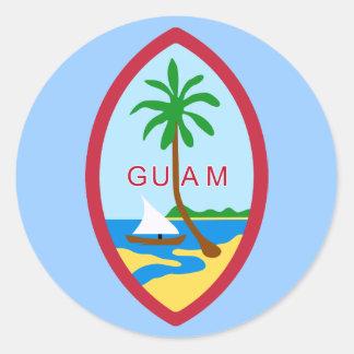 グアムの紋章付き外衣 ラウンドシール