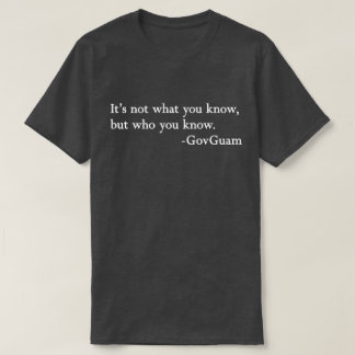 グアムはだれを知っているか671を走ります Tシャツ