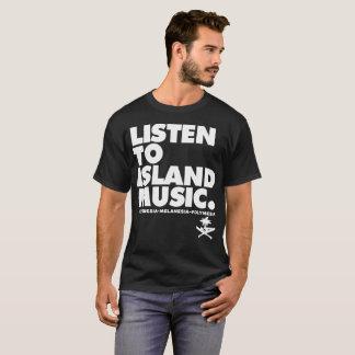グアムは島音楽Iに671を聞きます走ります Tシャツ