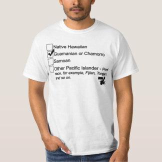 グアムは671を人口調査-黒走ります Tシャツ