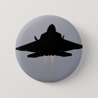 グアムを去るF-22 5.7CM 丸型バッジ