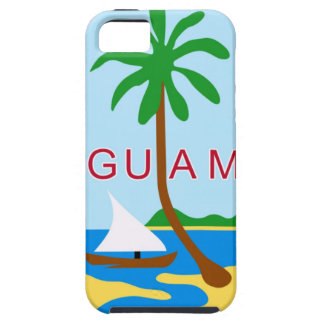 グアム-または記号紋章か旗または紋章付き外衣 iPhone SE/5/5s ケース
