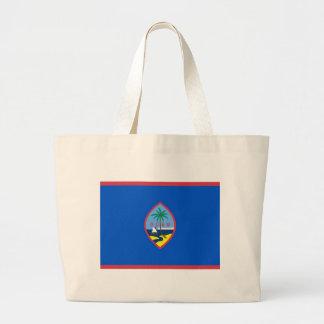 グアム-米国の旗が付いているバッグ ラージトートバッグ