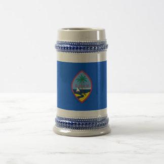 グアム-米国の旗が付いているマグ ビールジョッキ