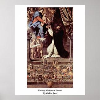 グイド・レーニ著数珠のマドンナ場面 ポスター