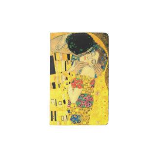 グスタフのクリムトによるキス ポケットMoleskineノートブック