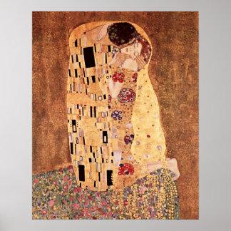 グスタフのクリムトによるキス ポスター