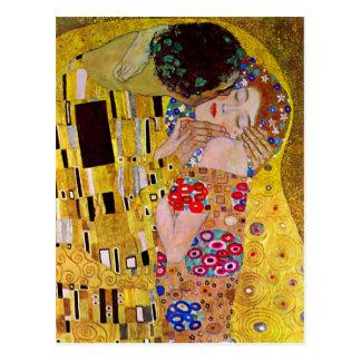 グスタフのクリムトによるキス ポストカード