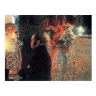グスタフのクリムトによるピアノのSchubert ポストカード