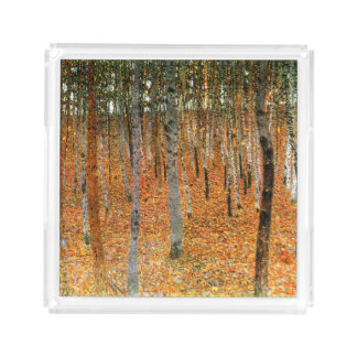グスタフのクリムトによるブナの森林 アクリルトレー