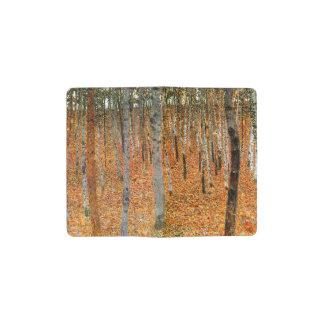 グスタフのクリムトによるブナの森林 ポケットMoleskineノートブック